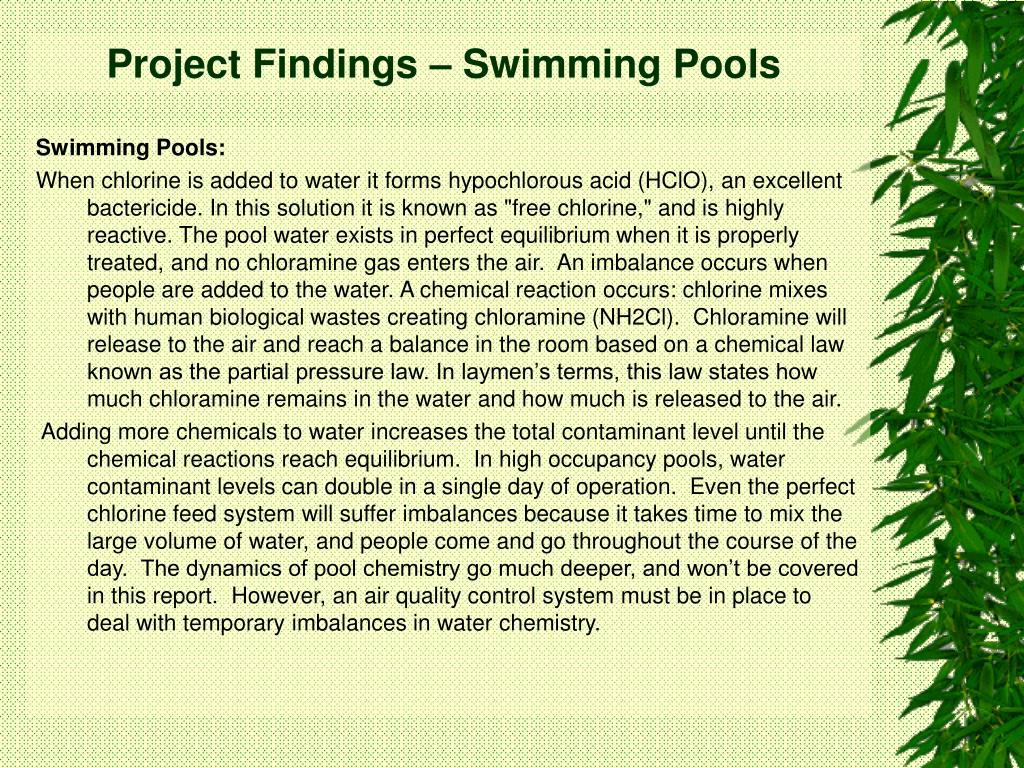 Project Findings – Swimming Pools