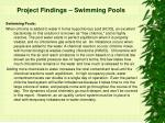 project findings swimming pools