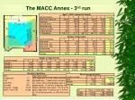 the macc annex 3 rd run