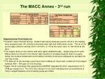 the macc annex 3 rd run21