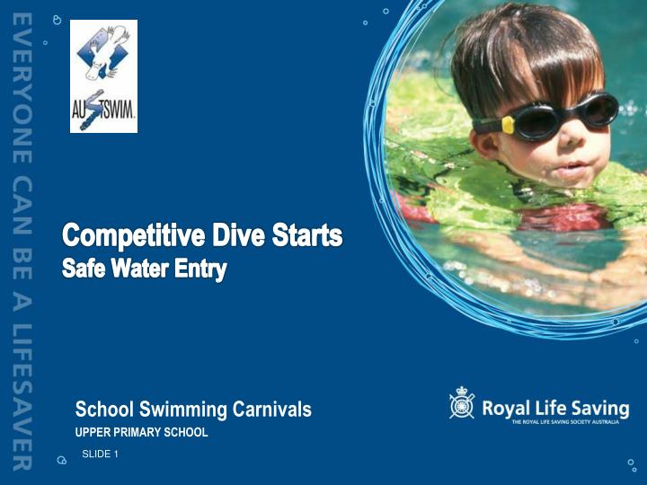 Competitive dive starts safe water entry