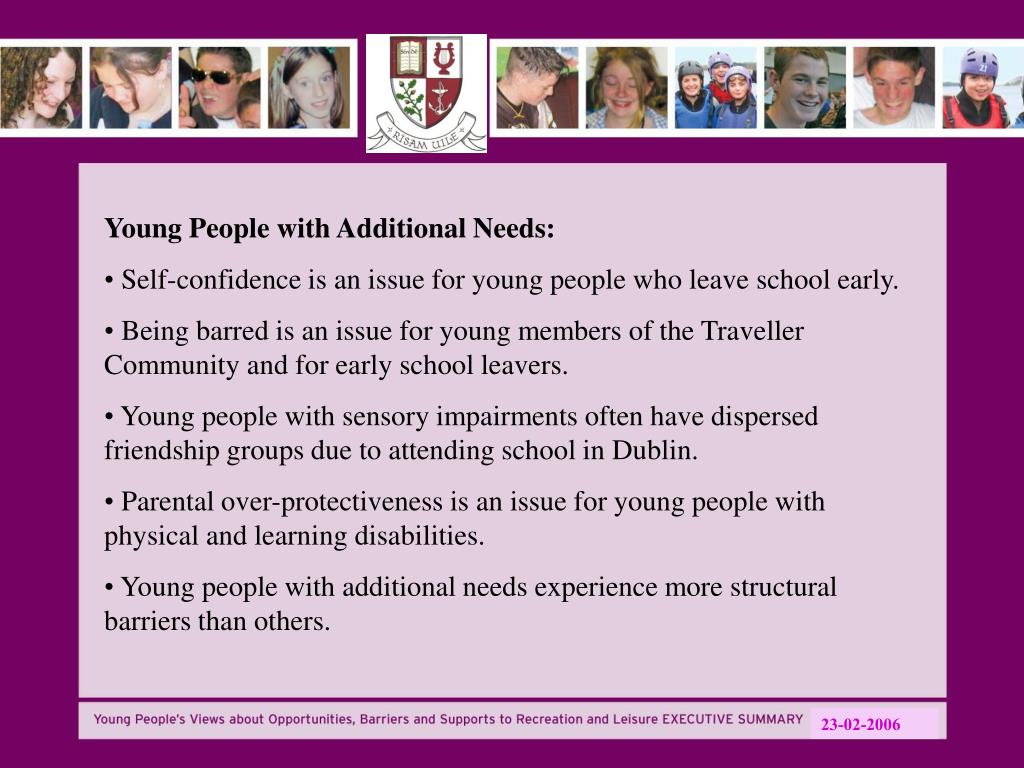 Young People with Additional Needs: