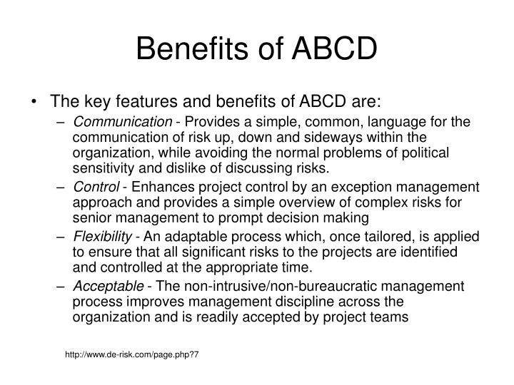 Benefits of ABCD