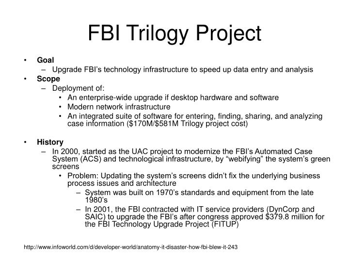 FBI Trilogy Project