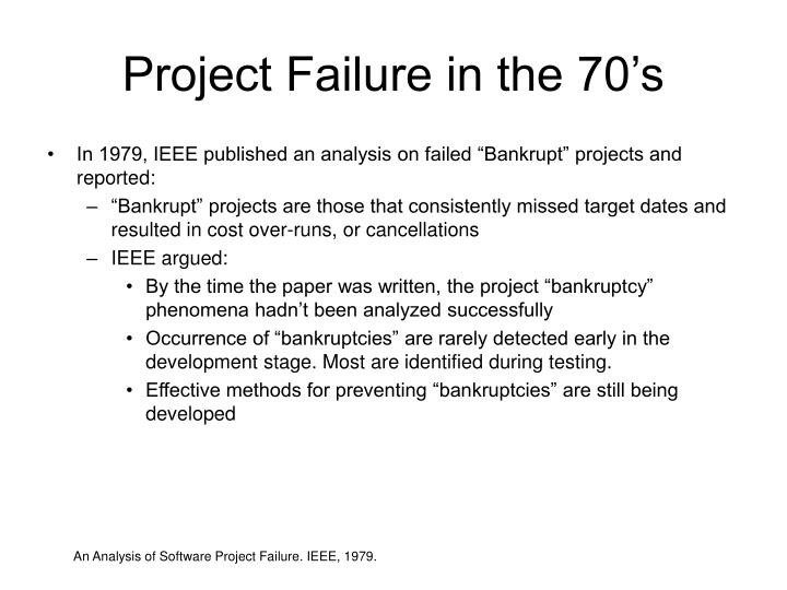 Project Failure in the 70's