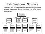 risk breakdown structure