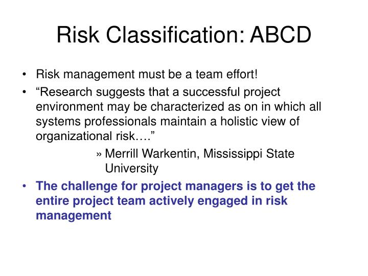 Risk Classification: ABCD