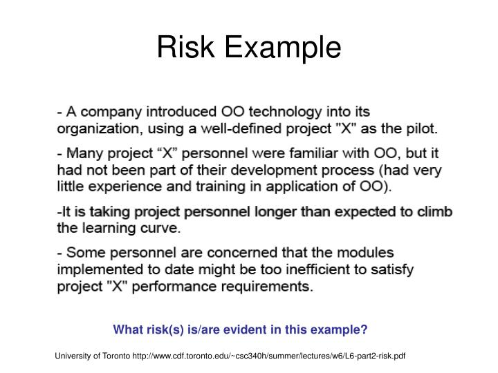 Risk Example