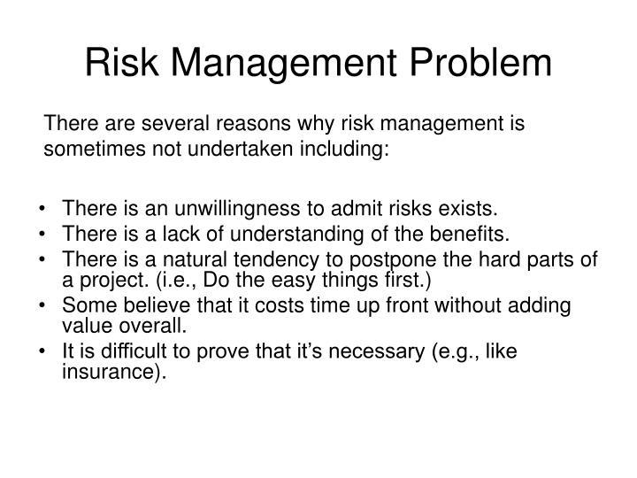 Risk Management Problem