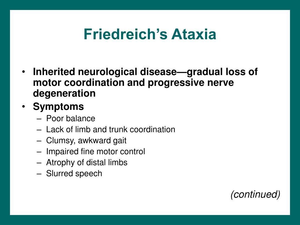 Friedreich's Ataxia