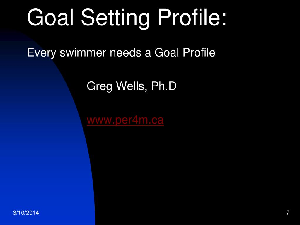 Goal Setting Profile: