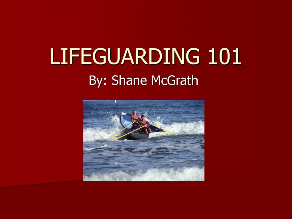 LIFEGUARDING 101