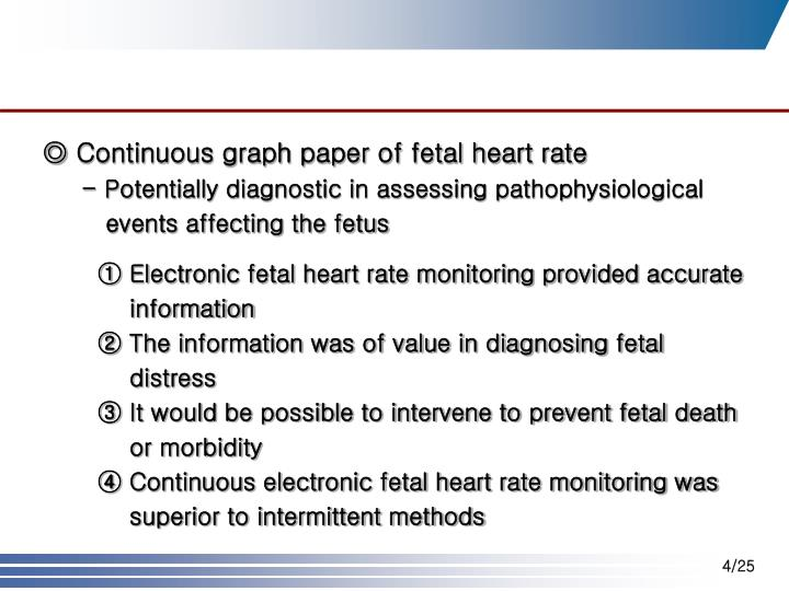 ◎ Continuous graph paper of fetal heart rate