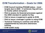 evm transformation goals for 2006
