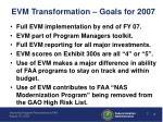 evm transformation goals for 2007