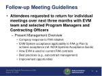 follow up meeting guidelines