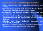 the role of bologna coordinating committee is5