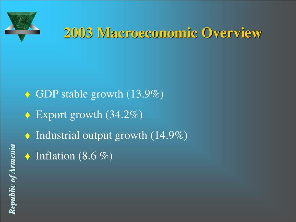 2003 Macroeconomic Overview