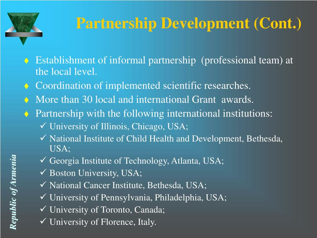Partnership Development (Cont.)