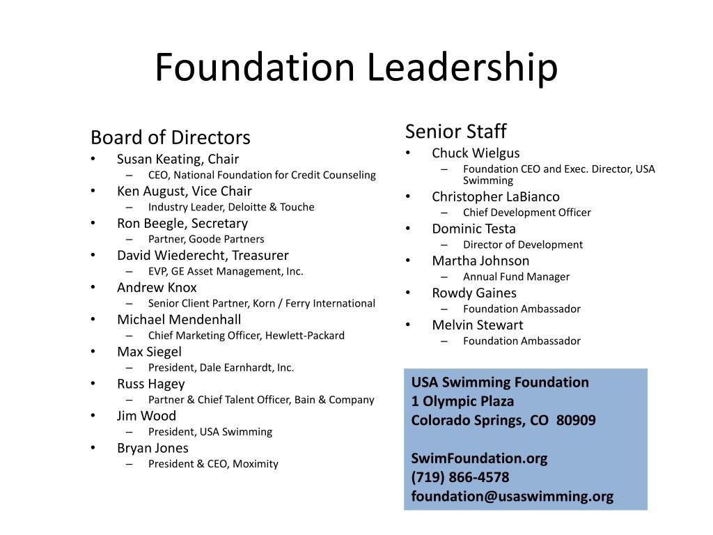 Foundation Leadership
