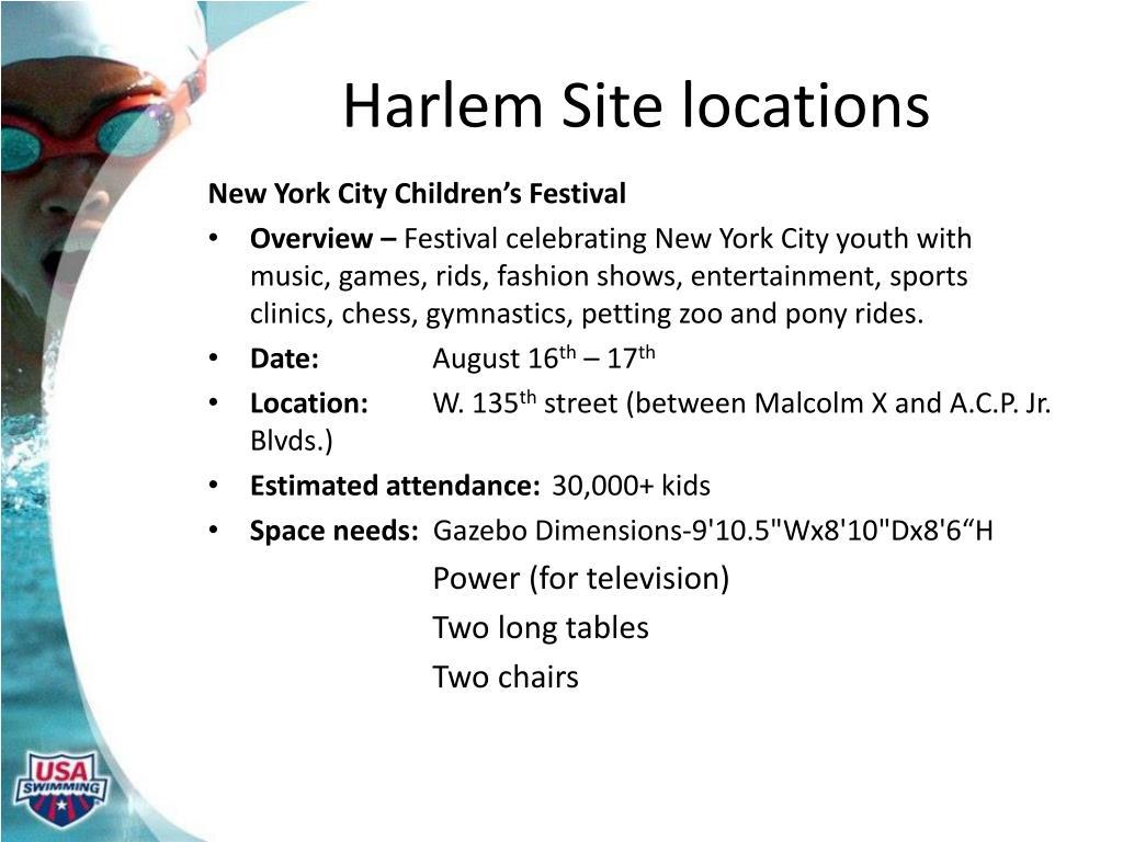 Harlem Site locations