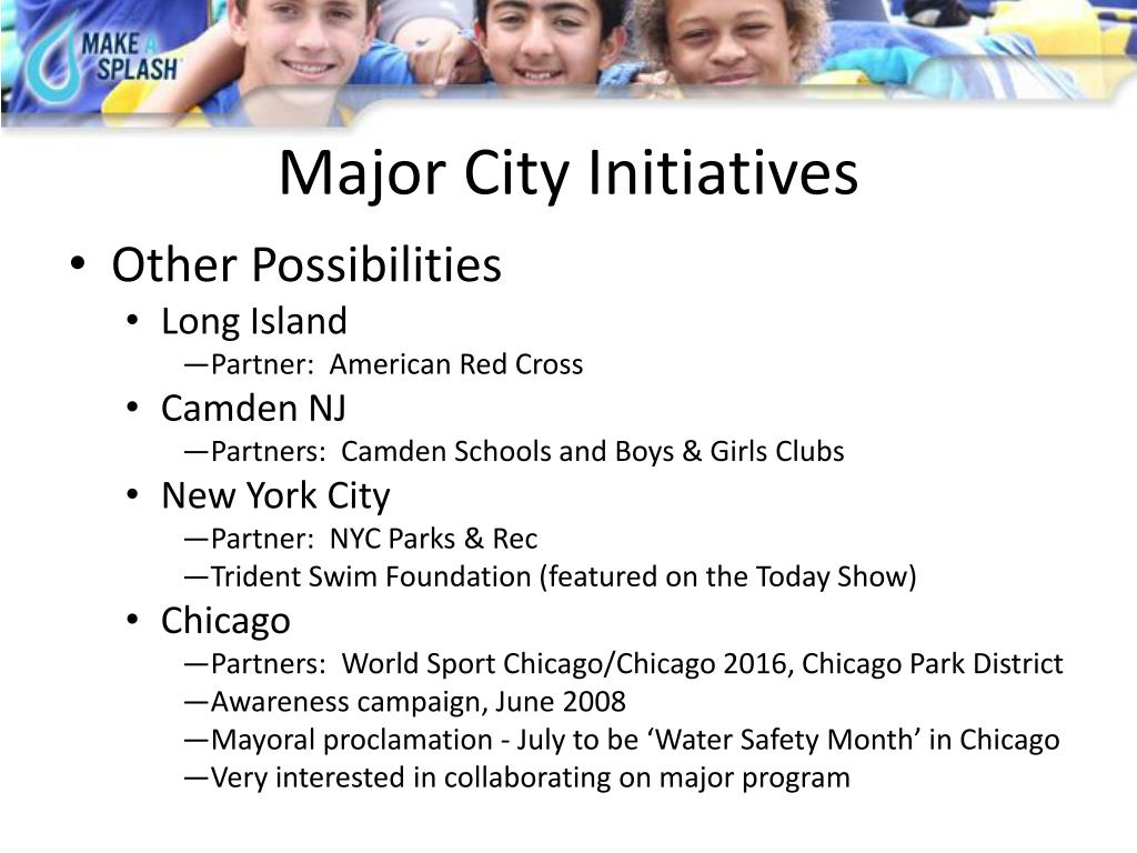Major City Initiatives