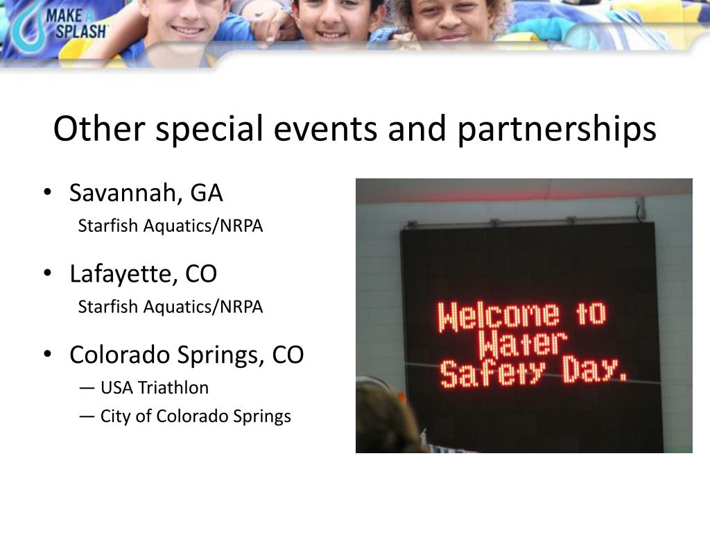 Other special events and partnerships
