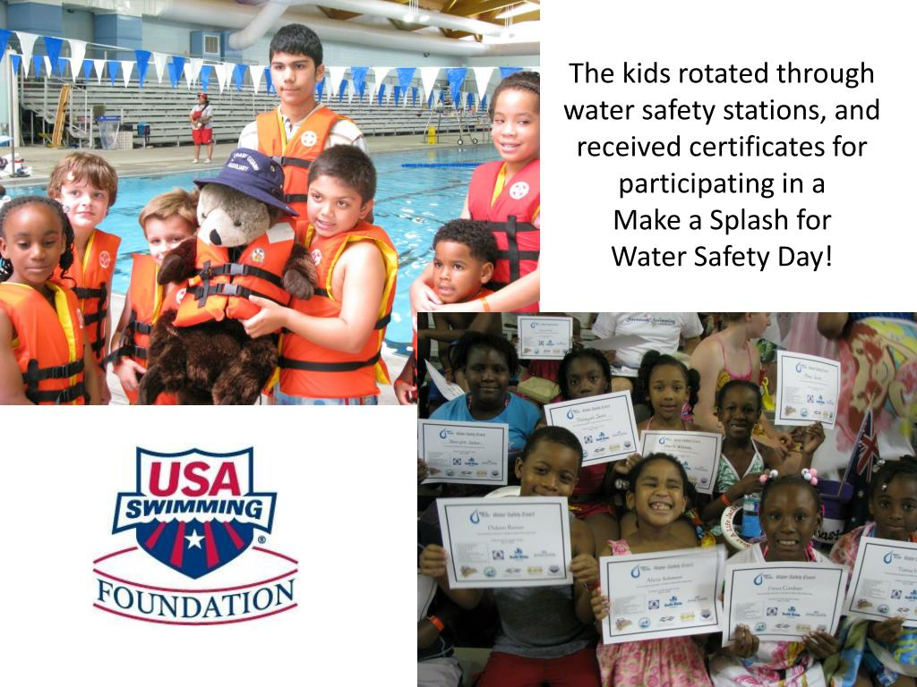 The kids rotated through water safety stations, and received certificates for participating in a