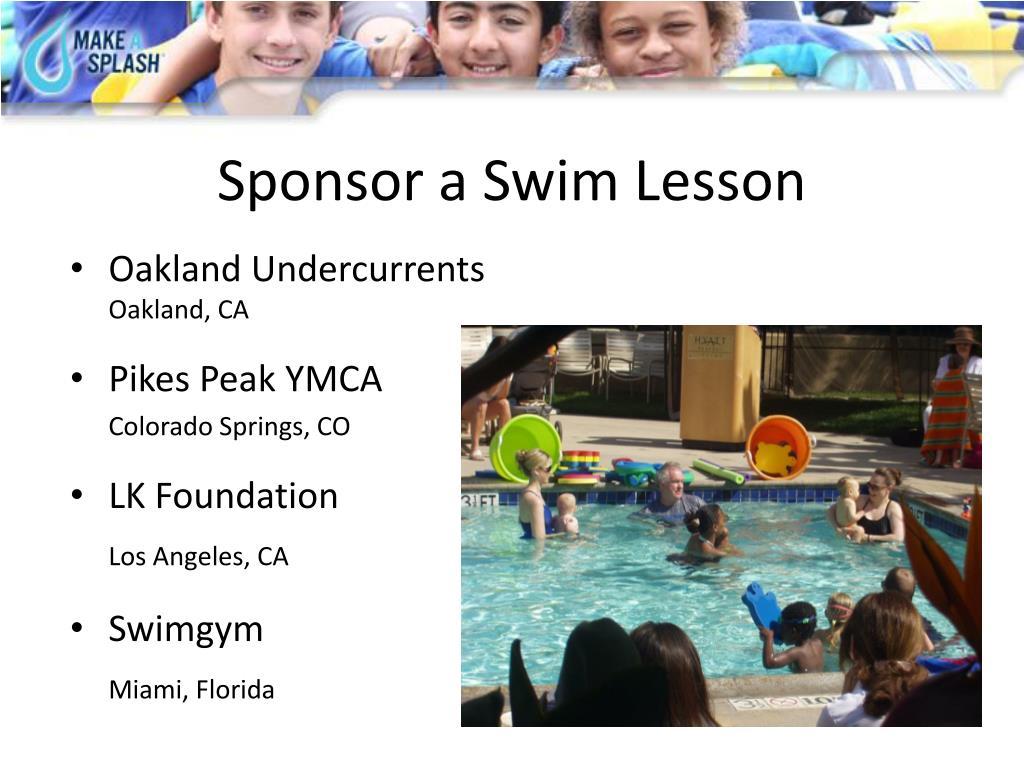 Sponsor a Swim Lesson