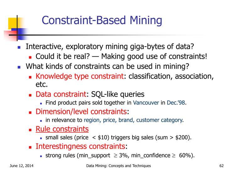 Constraint-Based Mining