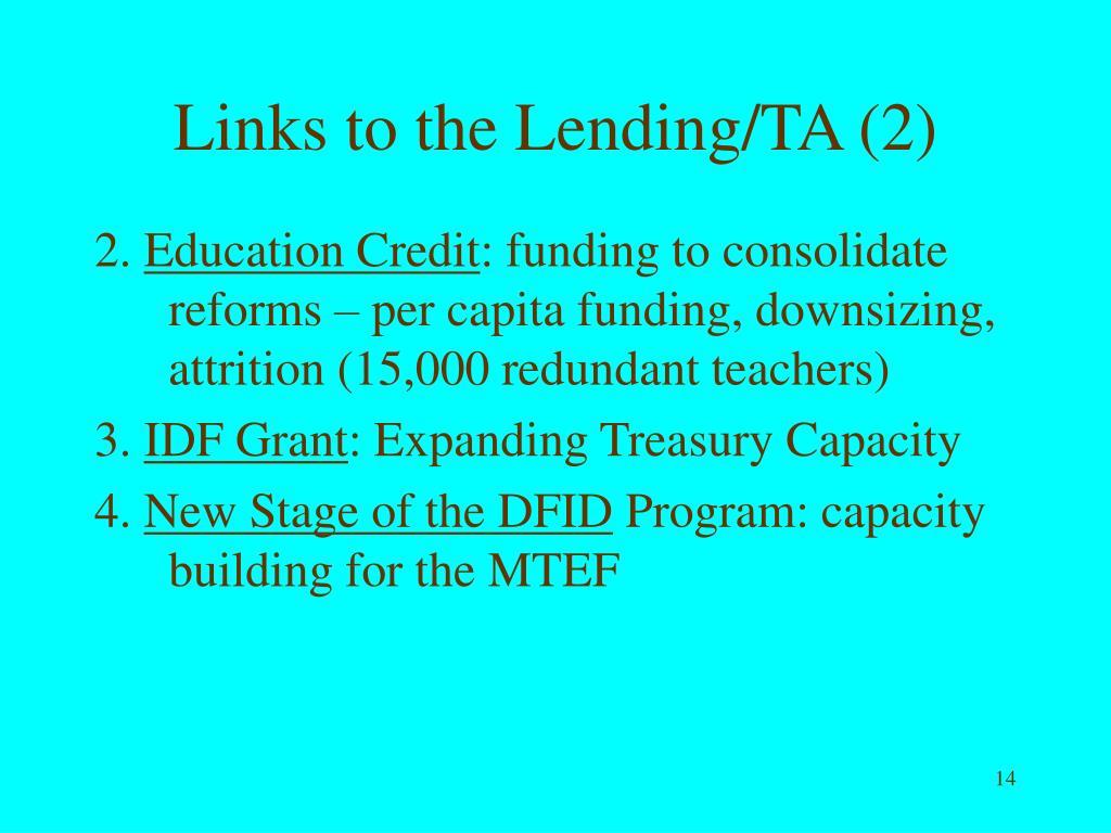 Links to the Lending/TA (2)