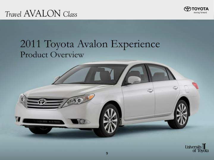 2011 Toyota Avalon Experience