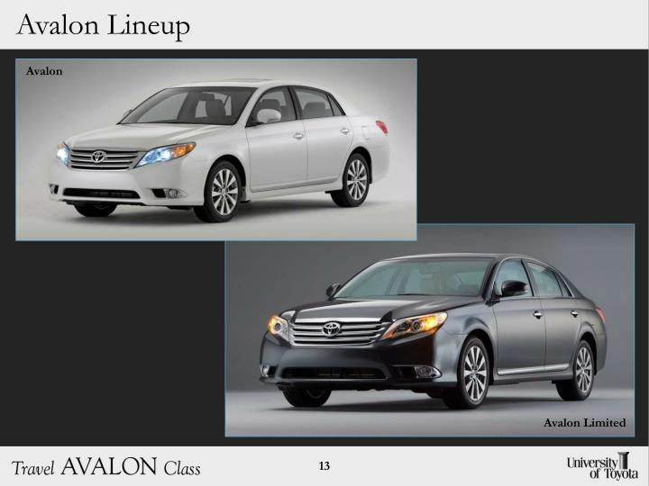 Avalon Lineup