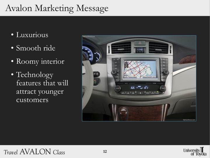 Avalon Marketing Message