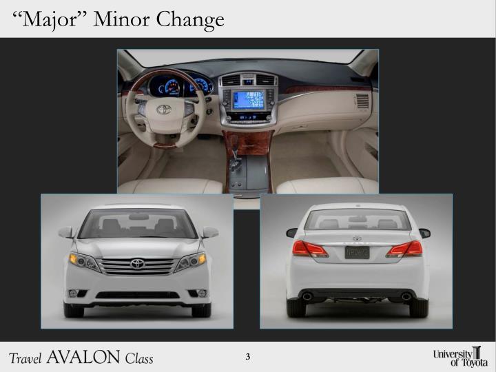 """Major"" Minor Change"