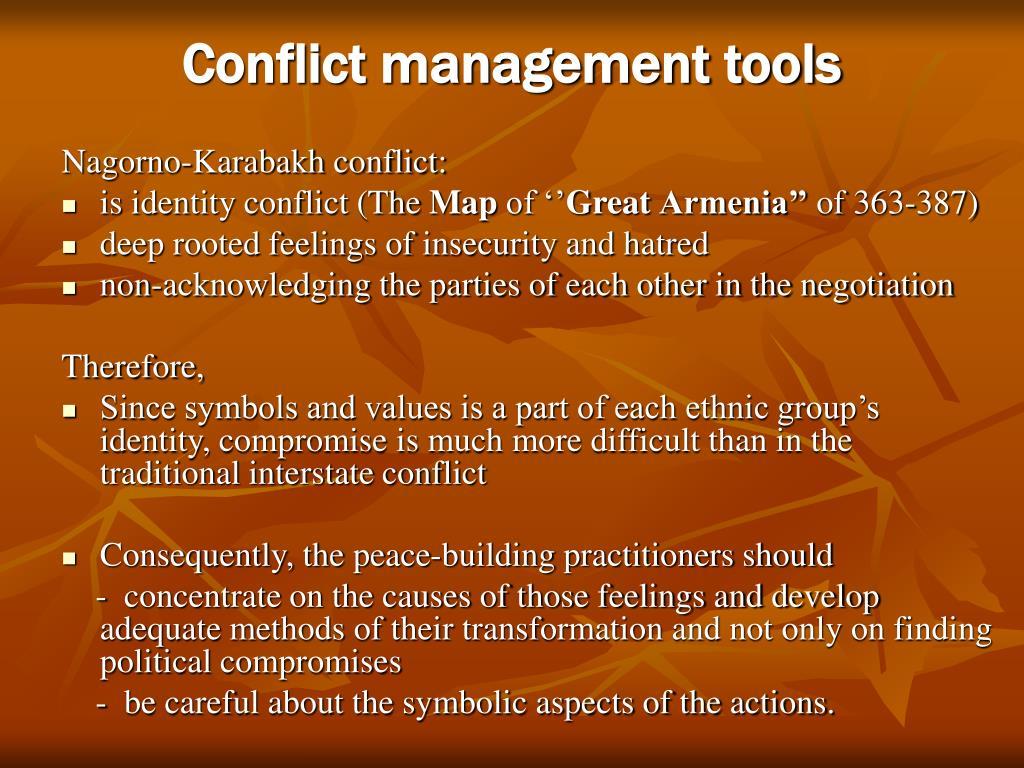 Conflict management tools