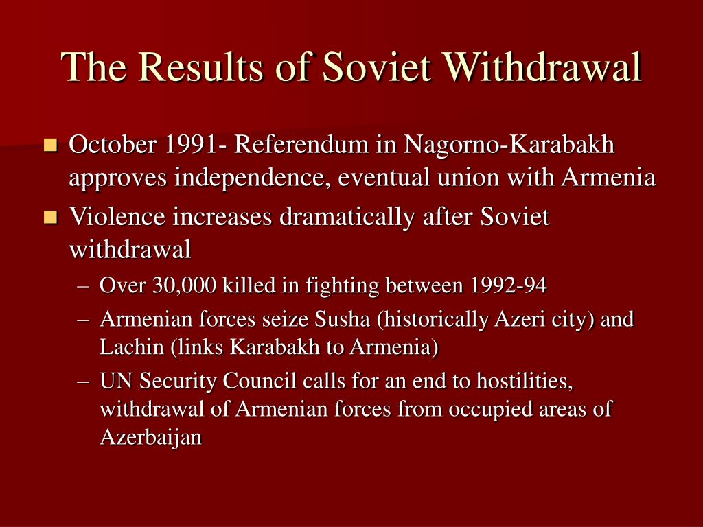 The Results of Soviet Withdrawal