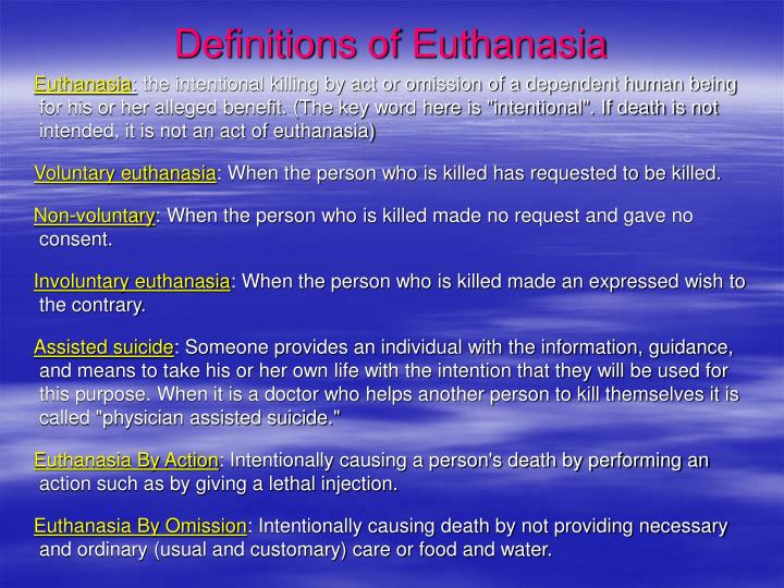 beneficence and euthanasia Legalizing euthanasia and assisted suicide therefore places many non-voluntary euthanasia is now being justified by appealing to the social duty of citizens and the ethical pillar of beneficence in the netherlands, euthanasia has moved from being a measure of last resort to being one of.