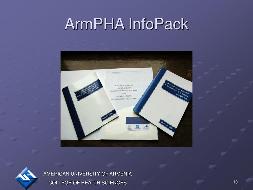 ArmPHA InfoPack