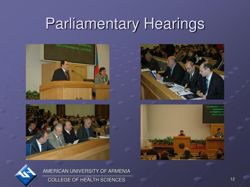 Parliamentary Hearings