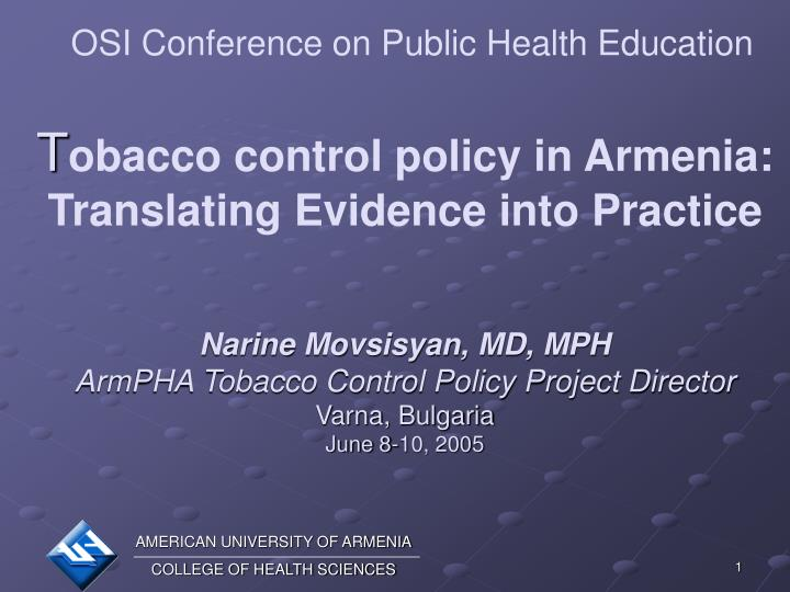 OSI Conference on Public Health Education