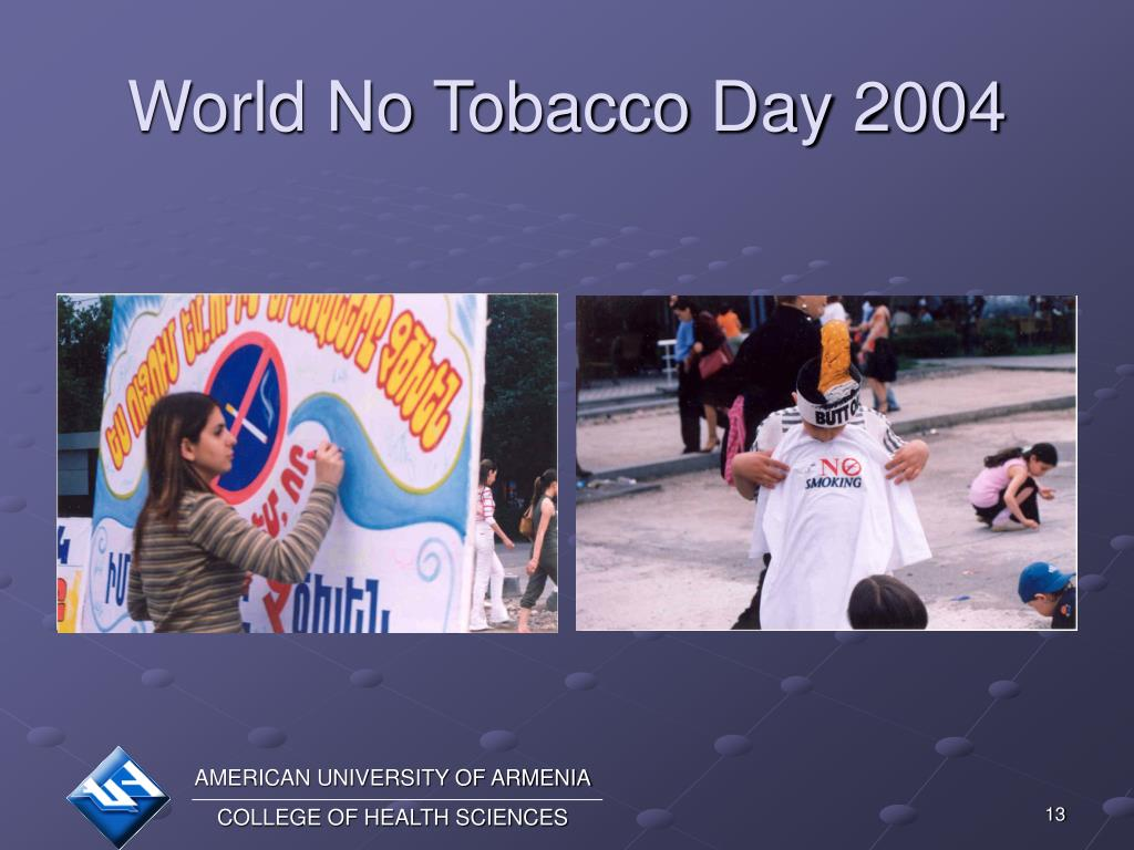 World No Tobacco Day 2004