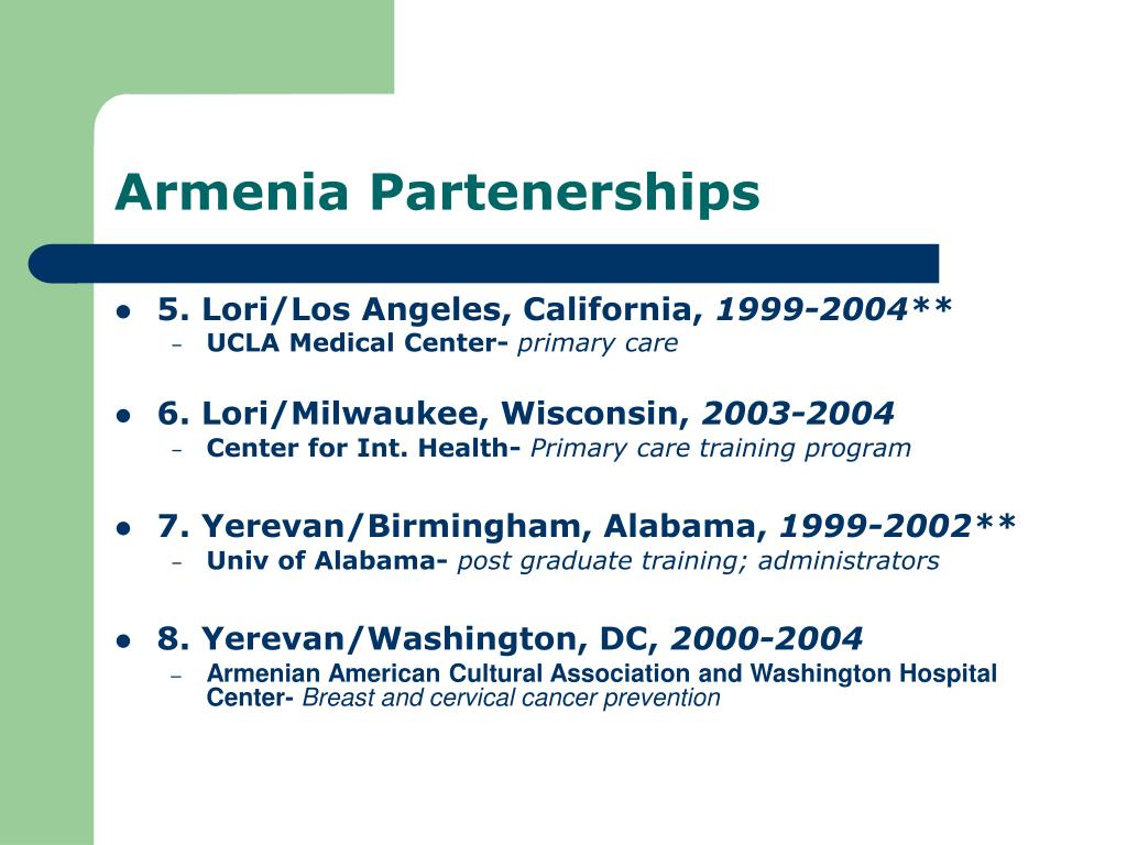 Armenia Partenerships