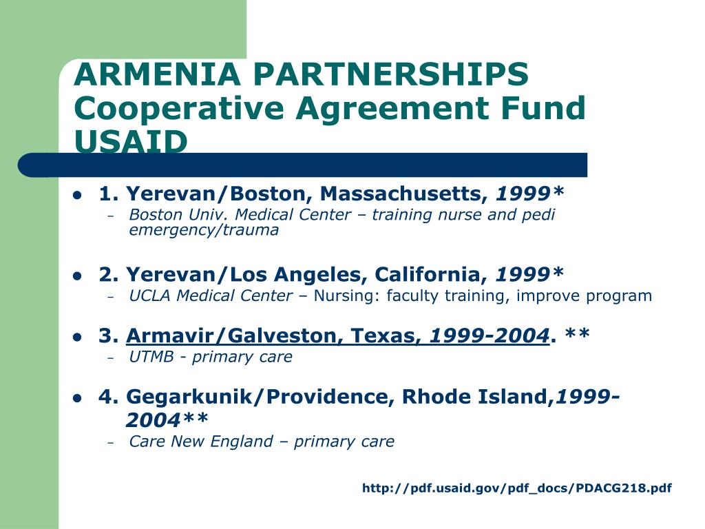 ARMENIA PARTNERSHIPS