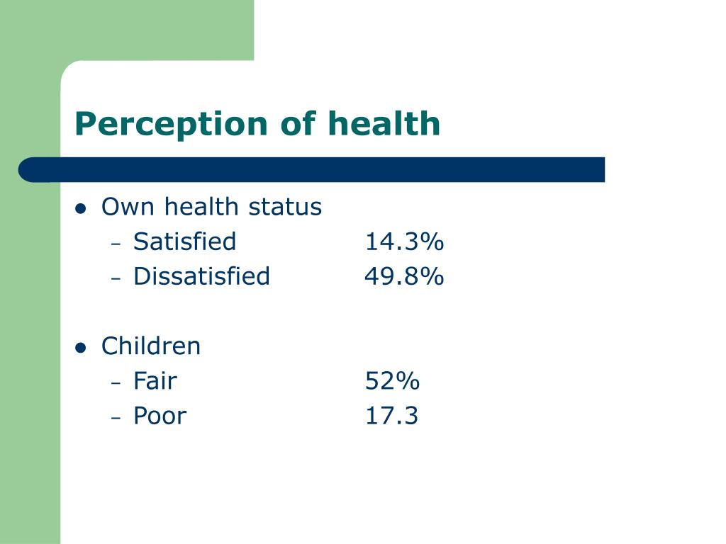 Perception of health
