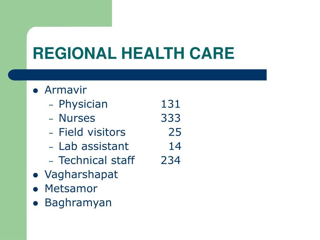 REGIONAL HEALTH CARE