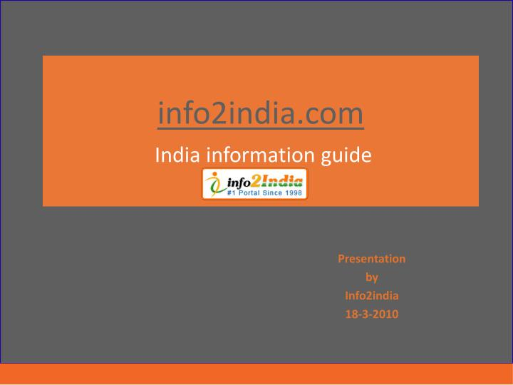 Info2india com india information guide