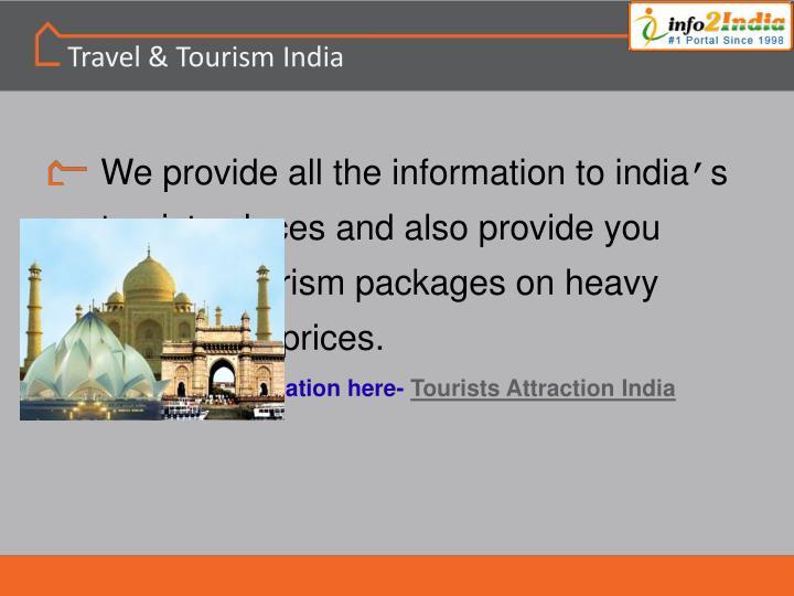 Travel & Tourism India