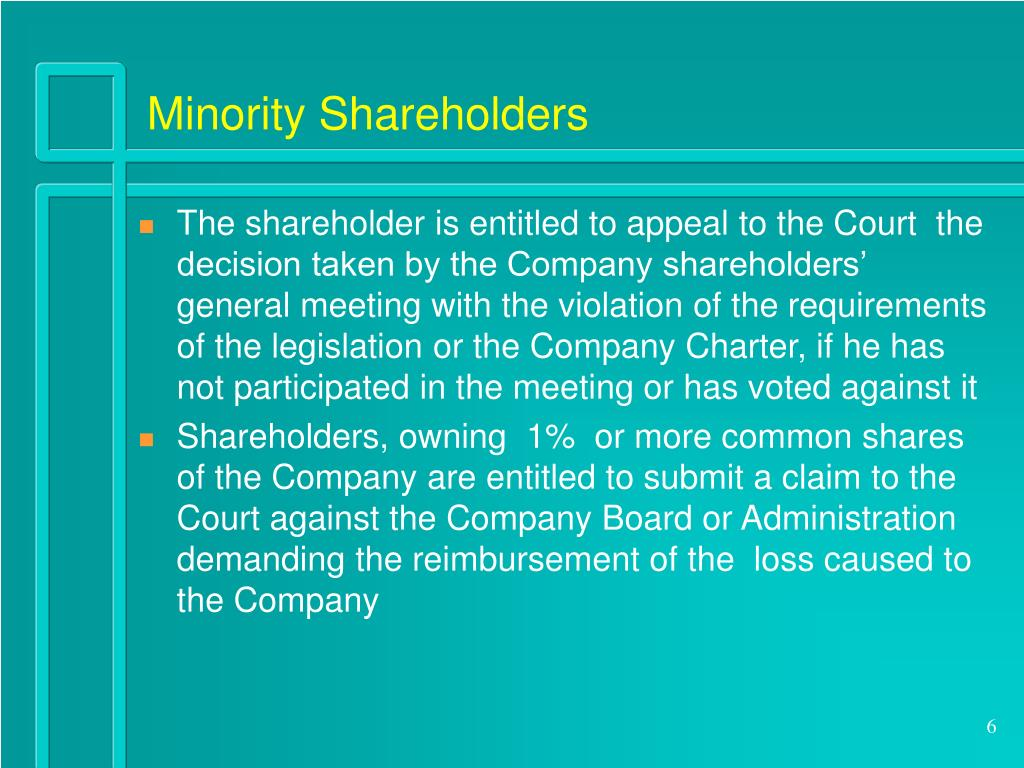 Minority Shareholders