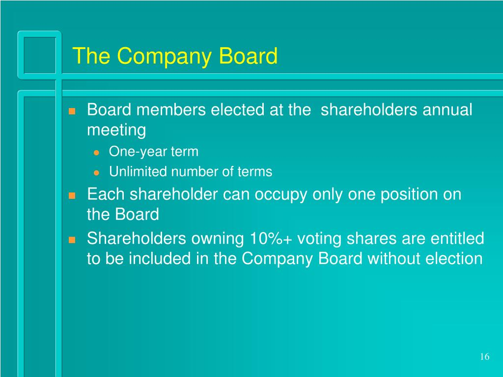 The Company Board